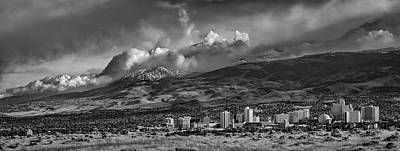Photograph - Reno Storm 2bw by Rick Mosher