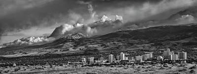 Photograph - Reno Storm 2bw by Rick Mosher