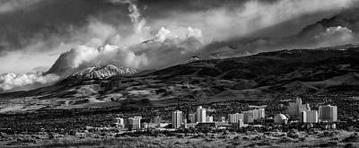 Photograph - Reno Storm Black And White by Rick Mosher