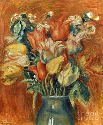 Impressionist Photograph - Renoir: Bouquet Of Tulips by Granger
