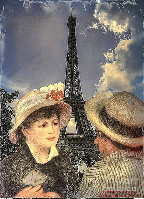 Renoir Collage Art Print