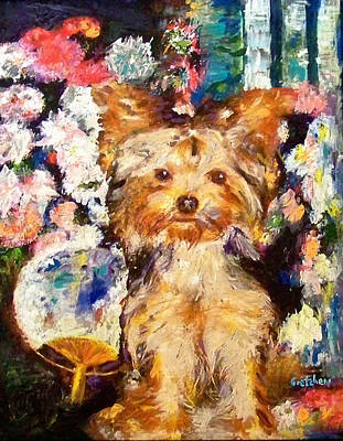 Renoir Dog Original by GretchenArt FineArt
