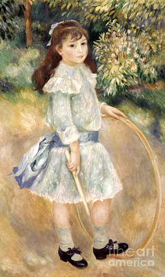 Photograph - Renoir: Girl/hoop, 1885 by Granger