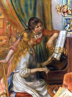 Photograph - Renoir: Girls/piano, 1892 by Granger