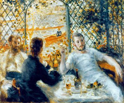 Photograph - Renoir: Lunch, 1879-80 by Granger