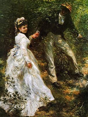 Pierre August Painting - Renoir Pierre August La Promenade by MotionAge Designs