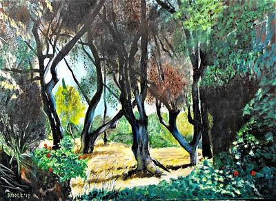 Painting - Renoir's Garden by Jack Riddle