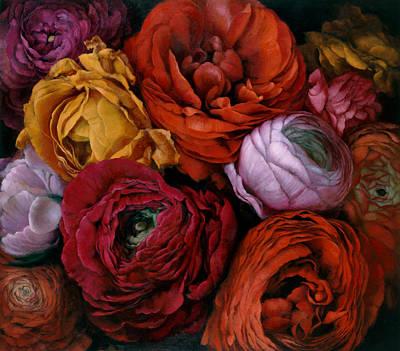 Ranunculus Painting - Renoncules by Kira Weber