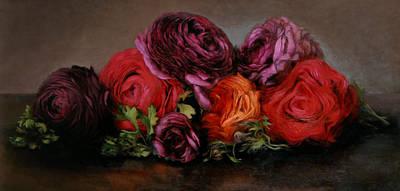 Ranunculus Painting - Renoncules Sur La Table by Kira Weber