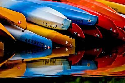 Rental Canoes Art Print