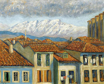 Painting - Renteria And The Mountains Of Aya by Dario de Regoyos