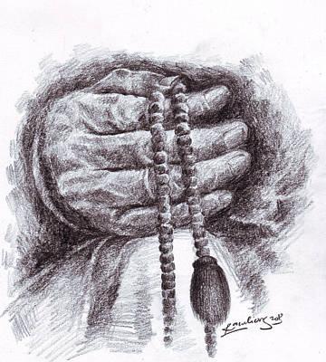 Hati Drawing - Renungan Hati by Mohammad Ramli