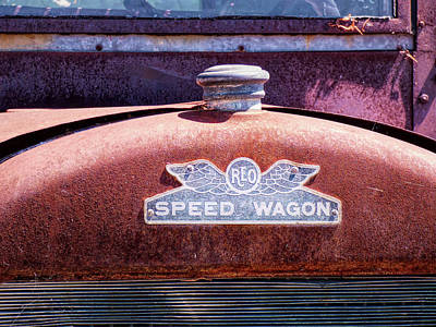Photograph - Reo Speed Wagon Hood Emblem by Leslie Montgomery