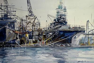 Painting - Repairs At Norfolk by Sandra Strohschein