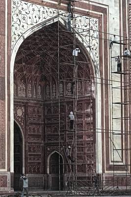 Photograph - Repairs At The Taj Mahal, Agra 2014 by Chris Honeyman