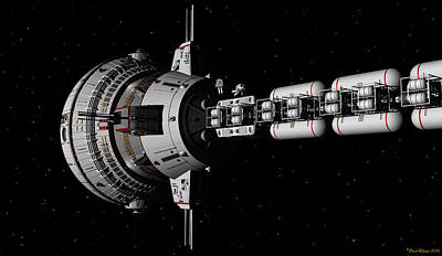 Digital Art - Repairs In Space by David Robinson