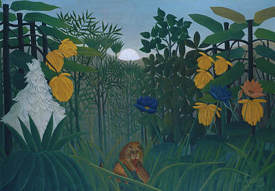 Painting - Repast Of The Lion by Henri Rousseau