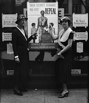 Photograph - Repeal Prohibition C. 1929 by Daniel Hagerman