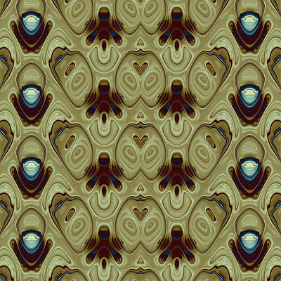 Algorithmic Digital Art - Repeating Patterns No. 12 by Mark Eggleston
