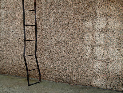 Repetitive Square Patterns Of Ladder And Exterior Wall Original