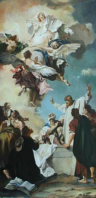 Painting - Replica Of The Assumption Of The Virgin By Giacomo Piazzetta by Tigran Ghulyan