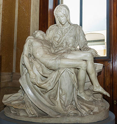 Photograph - Replica Of The Pieta In Vatican Museum by Marek Poplawski