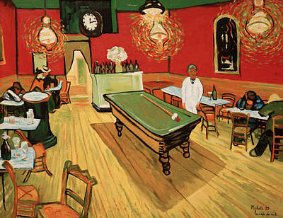 Replica Painting - Replica The Night Cafe by Joe Michelli