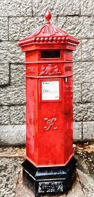 Photograph - Replica Victorian Penfold Pillar Box by Dorothy Berry-Lound