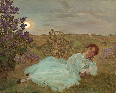 Somov Painting - Repose At Sunset by MotionAge Designs