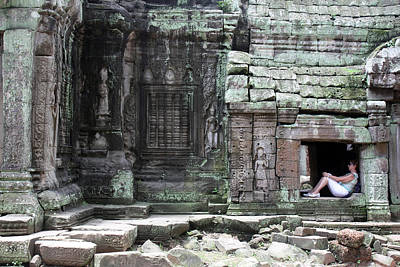 Photograph - Reprieve At Ta Prohm by John Meader