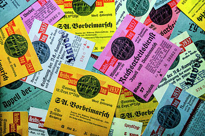 Photograph - Reproductions Of Tickets For Events Of The Nazi Party. by Pablo Lopez