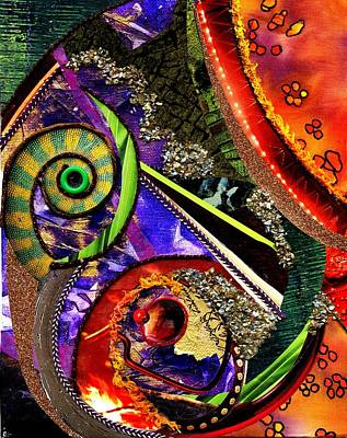 Wall Size Art Mixed Media - Reptile Warmth by Melanie Hudson