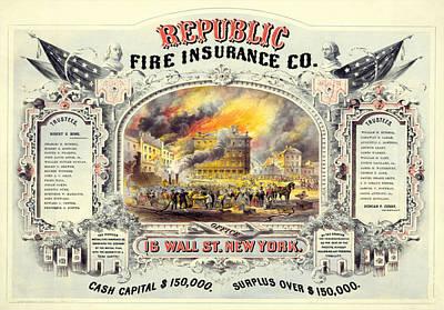 Republic Fire Insurance Art Print by Charlie Ross