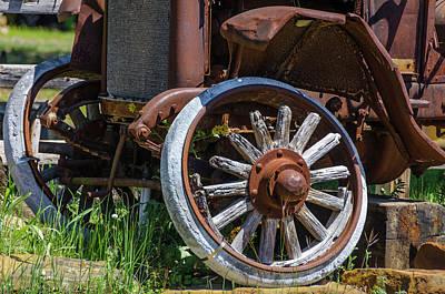 Photograph - Republic Motor - Wooden Spokes by Debra Martz