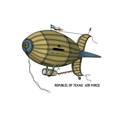 Republic Of Texas Digital Art - Republic Of Texas Air Force by Larry Scarborough