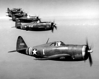 Republic P-47 Thunderbolts, Circa 1943 Art Print by Everett