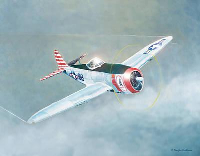 Painting - Republic P-47d Thunderbolt Fighter/bomber by Douglas Castleman