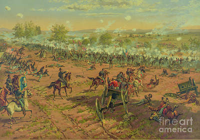 Digital Art - Repulse Of Pickett's Charge At Gettysburg One by Randy Steele