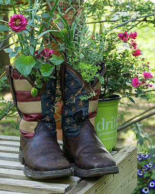 Photograph - Repurposed Cowboy Boots by Jerry Gammon