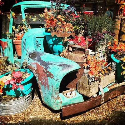 Photograph - Repurposed Vintage Truck by Debra Martz
