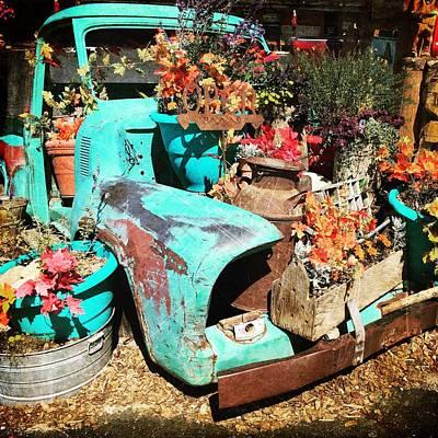 Photograph - Repurposed Vintage Truck by Debra Martz