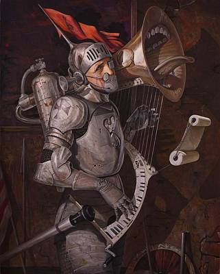 Harps Painting - Requiem For Peace by Adrian Borda