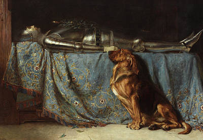 Medieval Painting - Requiescat by Briton Riviere