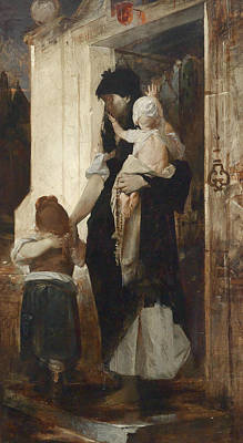 Painting - Requiescat by Raphael von Ambros