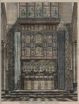 Religious Art Painting - Reredos Chapel Of Aukland Castle 1884 by Dodgson Fowler