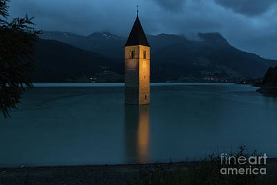 Photograph - Reschensee By Night by Yair Karelic