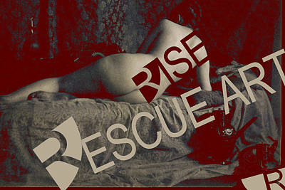 Mixed Media - Rise Rescue Art by Tony Rubino