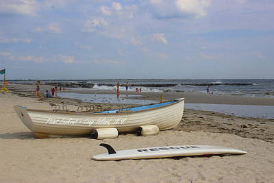 Photograph - Rescue Boat At Point Lookout by Dora Sofia Caputo Photographic Design and Fine Art