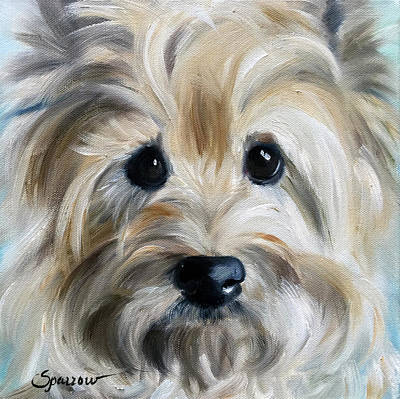 Cairn Terrier Painting - Rescue Me by Mary Sparrow