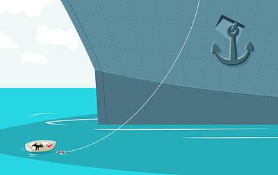 Row Boat Digital Art - Rescue by Scott Myles